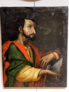 Giuda Taddeo Apostolo - Escuela lombarda del siglo XVII. Cm 77 x 62