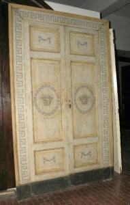 ptl181 n.2 puertas lacadas luigi XVI mis. max 154 xh 256 cm