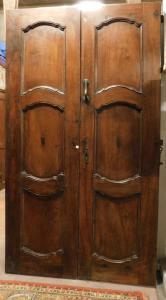 ptci505 - дверь из ореха с волнистыми панелями, см l 143 xh 250