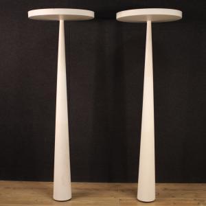 Coppia di lampade italiane in metallo