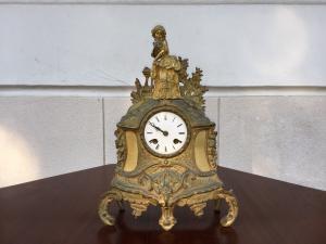 Orologio - in bronzo - metà 800 - francese