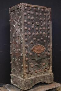 Large safe in original French iron and wood