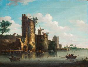 Vista de la ciudad de Flushing, siglo XVIII