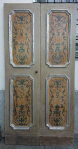 Porta napoletana dipinta Luigi XV
