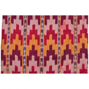 IKAT FERGANA panel in silk and lined with other IKAT