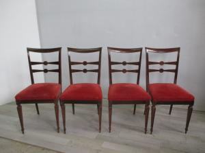 Group of four Louis XVI style chairs - II half 900 - vintage - 50 -60
