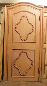 ptl517 - porta laccata con telaio, XVIII secolo, cm l 130 x h 259