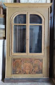 neg044 - placard/ vetrina laccata, epoca '800, cm l 138 x h 243