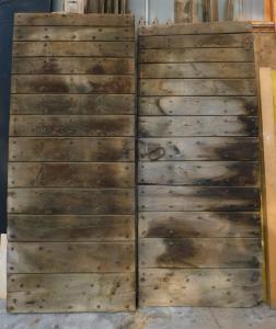 ptn239 - puerta de castaño, cm l 202 xh 240