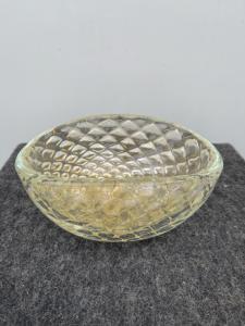 Стеклянная ваза с затопленным баллончиком с сусальным золотом. Стекло сегусо арт.