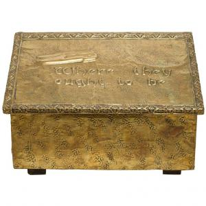 Cassetta antica inglese porta-ciabatte