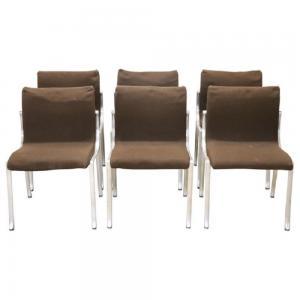 Conjunto de seis cadeiras de estilo Osvaldo Borsani, preço de 1970 negociável