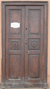DOOR WITH TWO DOORS IN NUT MASSELLO '800 PANEL PORTONI WITH 91x196 N7