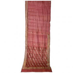 Ancient mauve Indian Sari