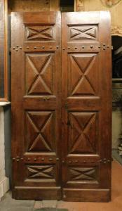ptci514 - дверь из ореха, период '600, см l 125 xh 242 x th. 5 см