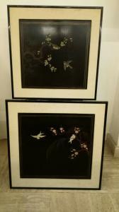 Chinesische Malerei, Paar Chinesische Malerei, Orientalische Kunst
