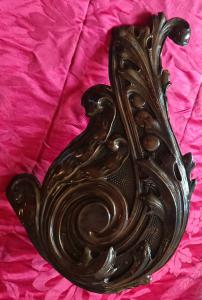 Nice frieze in art deco copper used as a lamp holder