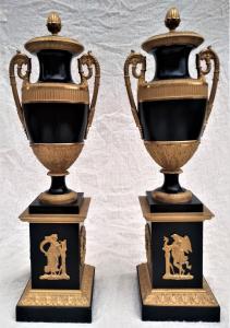 Pair of CASSOLETTE vases.