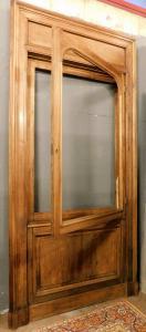 neg033 - porta de um nicho em nogueira, mis. max cm l 142 xh 296