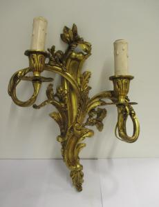Wall lamp in gilded bronze Louis XV style with two flames - elegant - 900