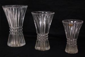 Tris di vasi in cristallo