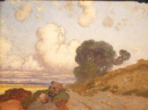 Sulla via di Taranto (studio) di Edoardo Dalbono