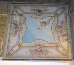 darb133 ceiling, painted paper on canvas, Naples.800, mis. 5.40 x 5.05