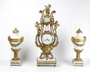 Orologio lira stile Luigi XV