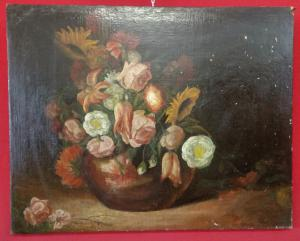 Painting of a vase of flowers