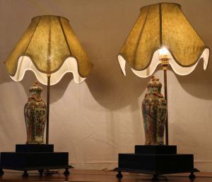 Lampade da Tavolo con Vasi Cinesi