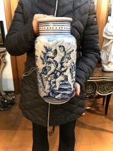 """Large Albissola vase """"Savona"""" original."""