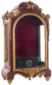 Small niche carved in wood, polychromed and partially gilded. 19th c.