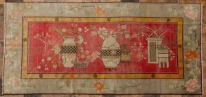 Antiker Samarkanda-Teppich mit Vasen - nr. 1417 -
