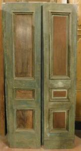 pts679 - n. 2 portas lacadas em nogueira, cm l 90 xh 206
