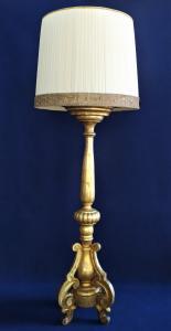 Grande piantana in legno intagliato e dorato -cm 188 h - Italia XIX sec.
