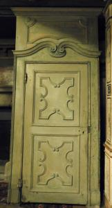 ptl183 n. 4 lackierte Türen, Epoche 600, mis. max cm l 134 xh 300