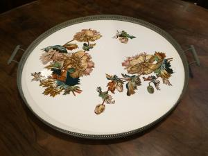 Richard Ginori centerpiece - ceramic with floral motif - early 50s