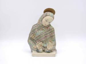 """Madonna dell'amore"",陶瓷雕塑,Lenci 制造"