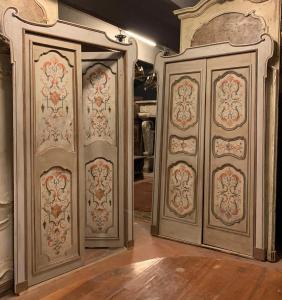 pts742 - пара дверей в комплекте с коробкой, эп. '700, изм. л 140/142 х 253