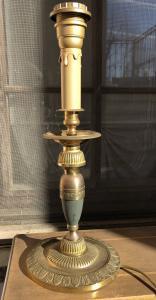 candeliere in bronzo dorato