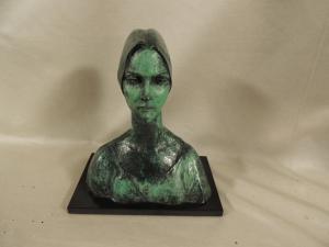 Half-length bronze IRENE by F. Messina