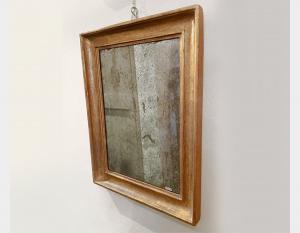 Specchiera al mercurio in legno dorato Art 215