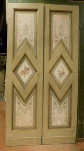 ptl531 - лакированная дверь с крашеными панелями с уголками, l 112 xh 220 x d. 3
