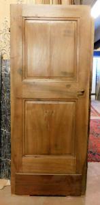 pti689 - дверь из орехового дерева с двумя створками, период '7/800, размер 79 см xh 190 см