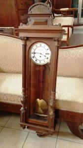 Mahogany wood pendulum clock signed from Vienna first half 800