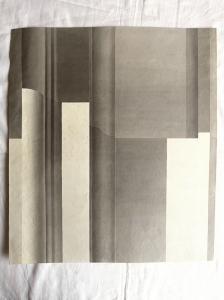 Aquarellzeichnung mit Bleistift auf Papier, die das Studium der Schatten (Handschrift) darstellt. Giulio Pietra.