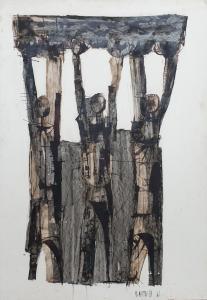 Рисунок тушью, подписанный Б. Мартинацци