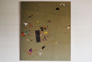 抽象图混合技术绘画在画布上Gianni Del Bue 1976