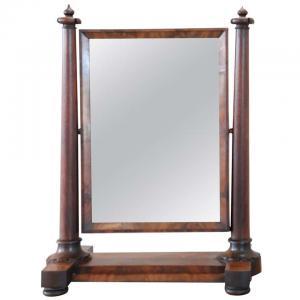 Psyche espejo antiguo caoba antiguo '800 Sec. XIX PRECIO NEGOCIABLE