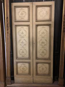 пц738 - н. 4 пары лакированных дверей, 18 век, изм. см l 118 xh 238